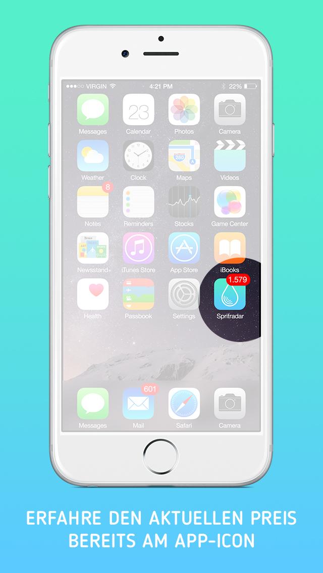 spritradar immer g nstig tanken iphone ipad app chip. Black Bedroom Furniture Sets. Home Design Ideas