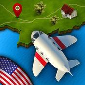 App Icon: GeoFlug USA: Lernen amerikanische Geographie und testen Sie Ihr Wissen in den Vereinigten Staaten 3.2