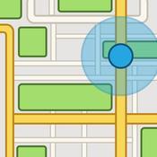 App Icon: iMaps+ für Google Maps™ und Street View™ : Routenplaner und ÖPNV Zeitplan 4.0.2