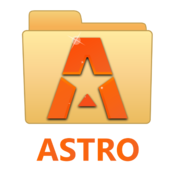 App Icon: ASTRO File Manager with Clouds