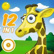 App Icon: Der fabelhafte Tier Spielplatz - Die 12 beliebtesten Spiele-Klassiker für Kinder 6.0.1