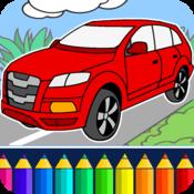App Icon: Ausmalbilder für Kinder: Autos