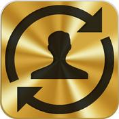 App Icon: RichContacts: Facebook, Linkedin und Twitter in deinem Adressbuch. Vergesse keinen Geburtstag mehr! 2.2