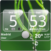App Icon: Sense Analog Glass Clock 4x2